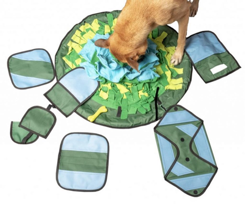 winter activities to do with your dog snuffle mat